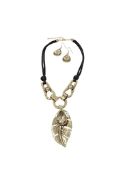 Nadya's Closet Leaf Detail Necklace Set - Product Mini Image