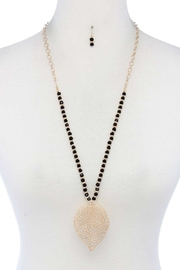 Nadya's Closet Leaf Shape Beaded Necklace - Product Mini Image