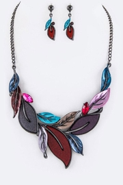 Nadya's Closet Leaf Statement Necklace-Set - Product Mini Image