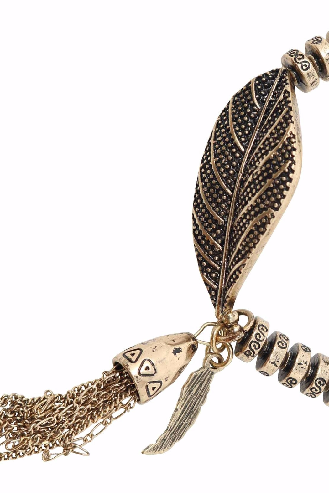Nadya's Closet Leaf Stretch Bracelet - Side Cropped Image