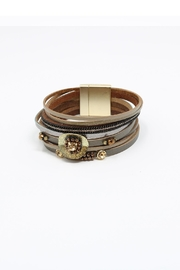 Nadya's Closet Leather Wrap Bracelet - Product Mini Image