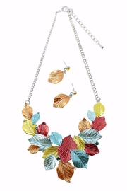 Nadya's Closet Leaves Necklace Set - Front cropped