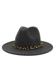 Nadya's Closet Leopard Belt Buckle Trendy Panama Hat - Front cropped
