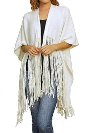 Nadya's Closet Long Fringed Poncho - Product Mini Image