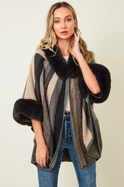 Nadya's Closet Long Sleeve Faux Fur Coat Jacket - Front cropped
