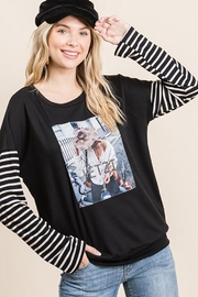 Nadya's Closet Long Sleeve Graphic Pullover Loose Sweat Shirt - Product Mini Image