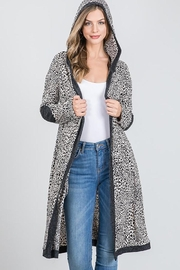 Nadya's Closet Long Sleeve Open Front Hooded Cardigan Sweater - Front cropped