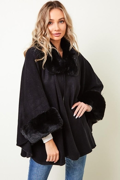 Nadya's Closet Long Sleeve Winter Warm Lapel Faux Fur Coat Jacket - Product List Image