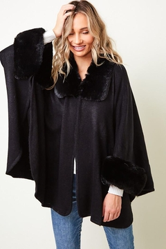 Nadya's Closet Long Sleeve Winter Warm Lapel Faux Fur Coat Jacket - Alternate List Image