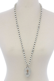 Nadya's Closet Lords Prayer Necklace - Front cropped