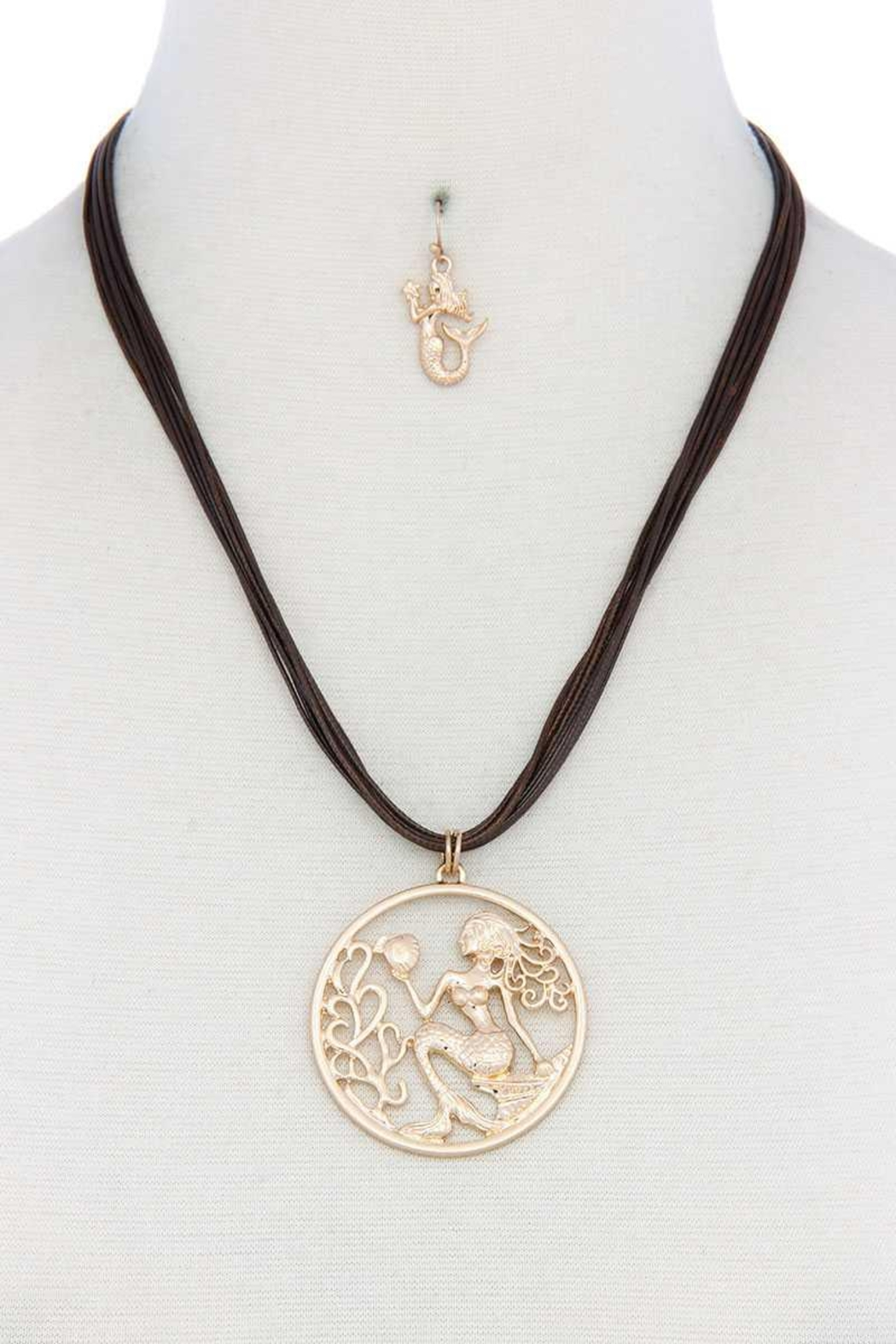 Nadya's Closet Mermaid Pendant Pu Leather Necklace - Main Image
