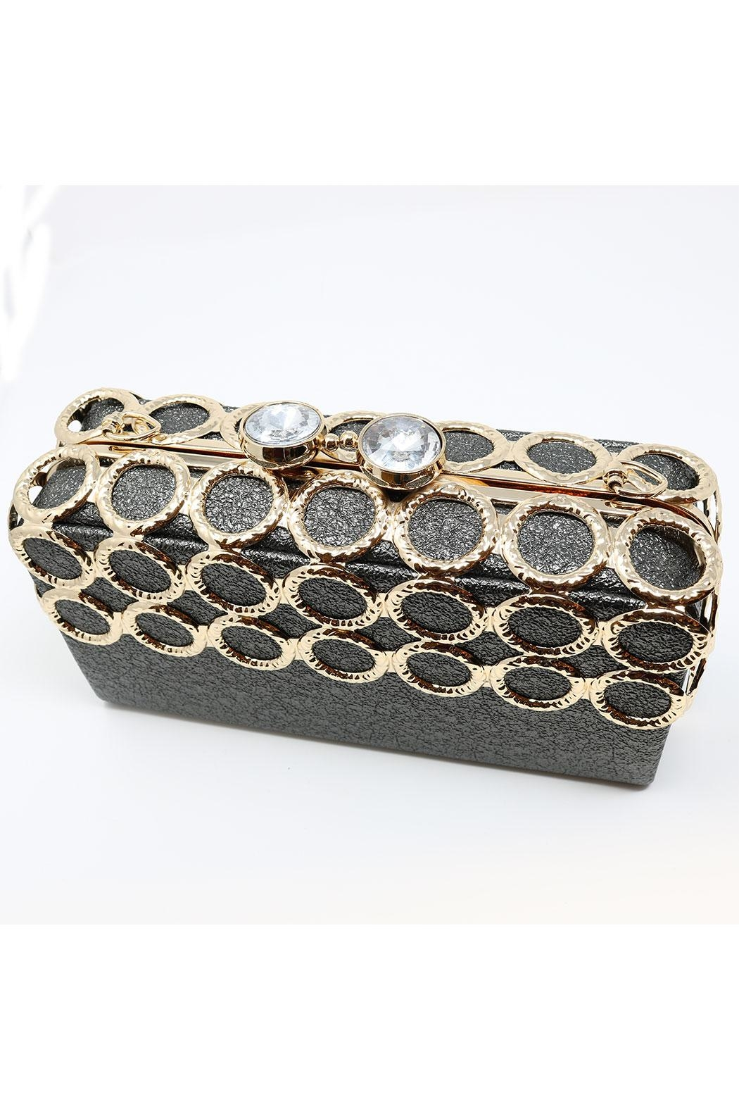 Nadya's Closet Metal Ring-Accent Clutch - Back Cropped Image