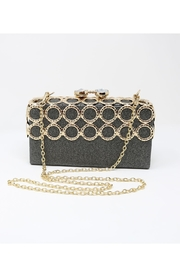 Nadya's Closet Metal Ring-Accent Clutch - Front cropped