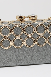 Nadya's Closet Metal Ring-Accent Clutch - Side cropped