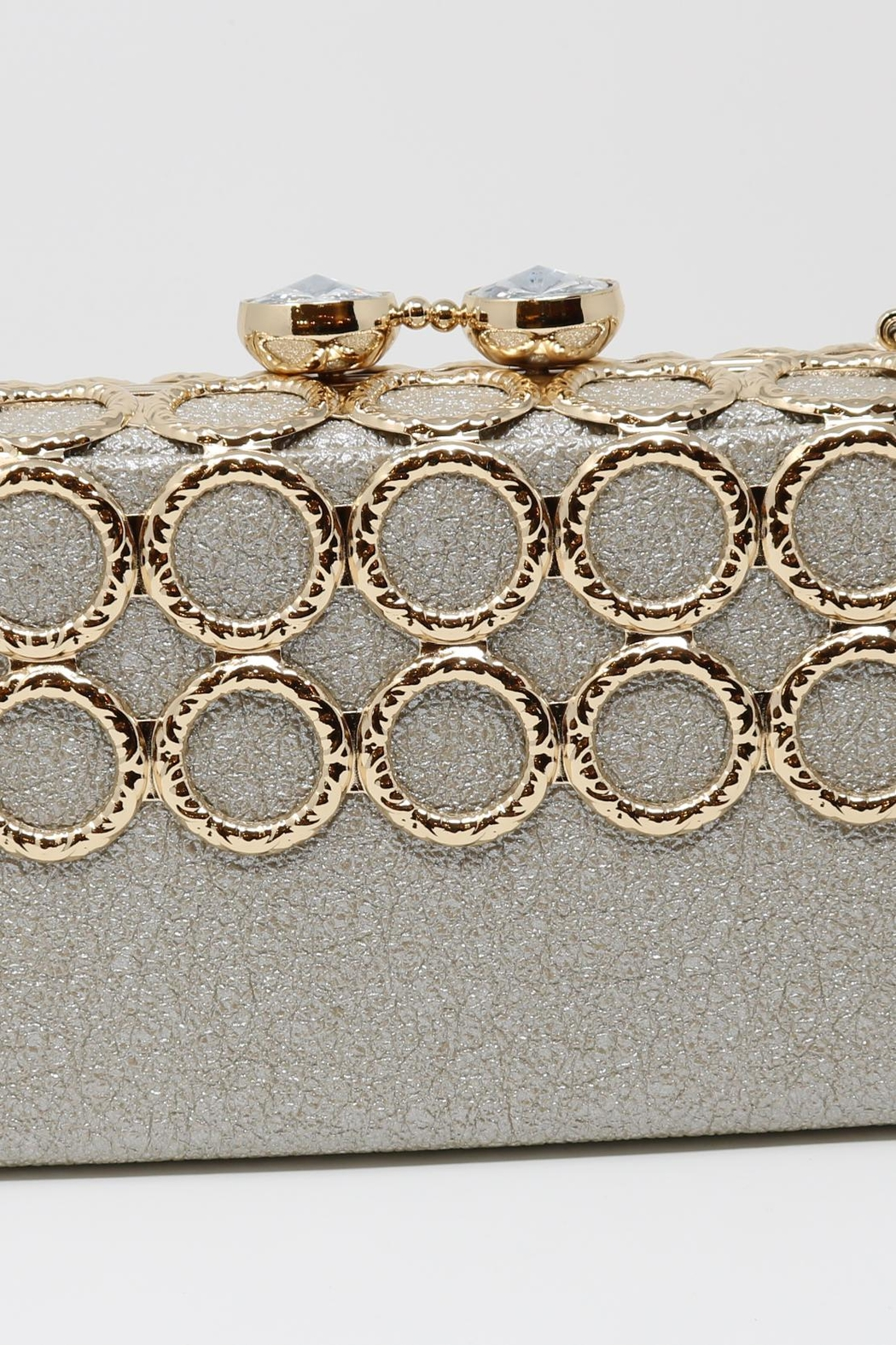 Nadya's Closet Metal Ring-Accent Clutch - Side Cropped Image