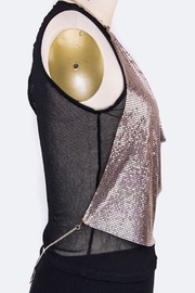 Nadya's Closet Metallic Halter Top - Back cropped