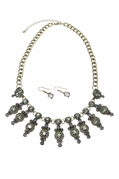 Shoptiques Product: Mix Crystals Necklace Set