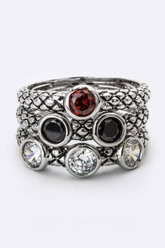 Shoptiques Product: Mix Cz Triple-Ring