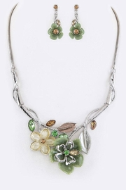 Nadya's Closet Mix Media Statement-Necklace - Front cropped