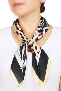 Shoptiques Product: Modern Animal Print Satin Scarf