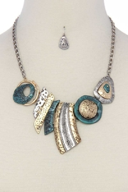 Nadya's Closet Multi Pattern Chunky Necklace - Product Mini Image