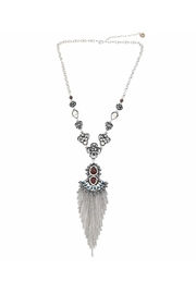 Nadya's Closet Multi Stone Fringed Necklace - Product Mini Image