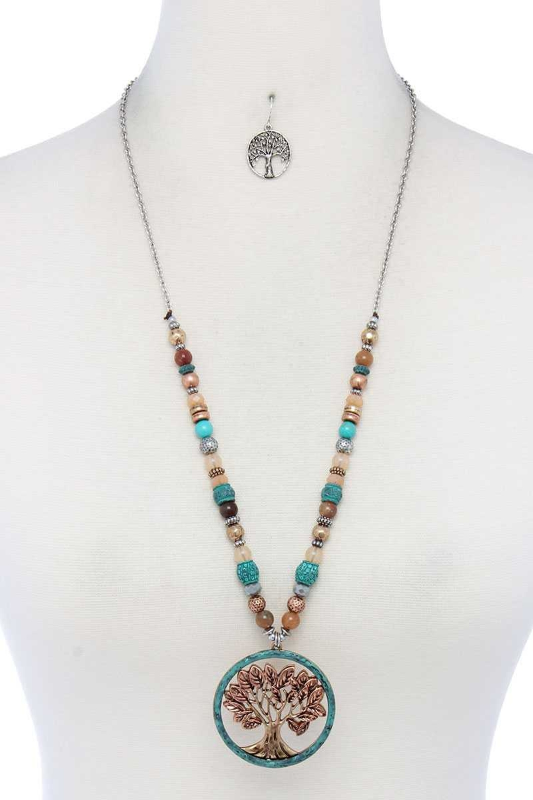 Nadya's Closet Oak Tree Necklace - Front Cropped Image