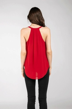 Nadya's Closet Overlap Tank Top Sleeveless Shirts - Alternate List Image