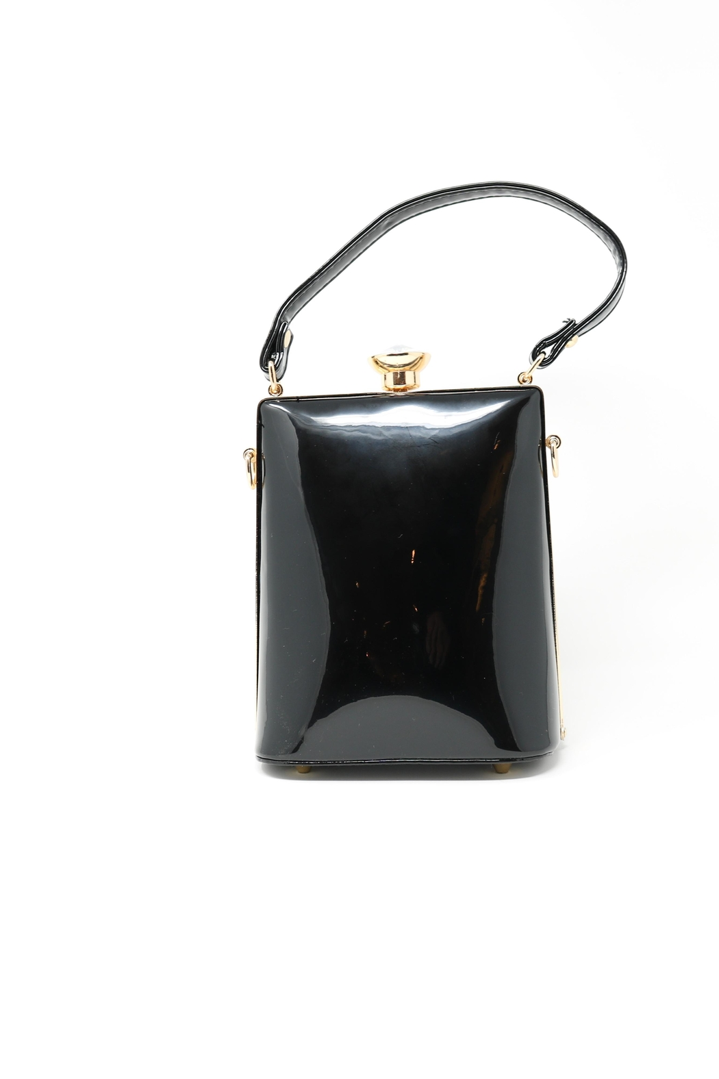 Nadya's Closet Patent Leather Floral Bag - Back Cropped Image