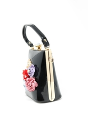 Nadya's Closet Patent Leather Floral Bag - Front full body