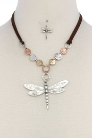 Nadya's Closet Patina Dragonfly Necklace - Product Mini Image