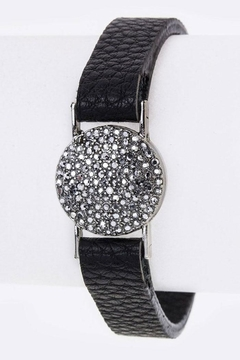 Shoptiques Product: Pave Crystal Leather-Cuff