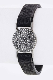 Nadya's Closet Pave Crystal Leather-Cuff - Product Mini Image