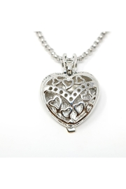 Nadya's Closet Pave-Crystals Heart Necklace - Back cropped