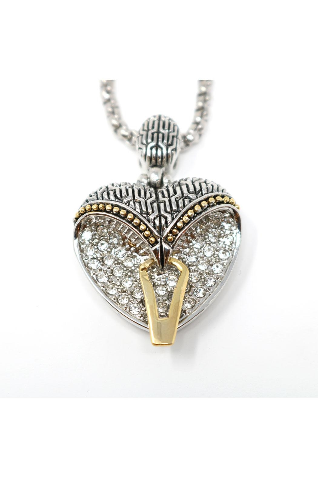 Nadya's Closet Pave-Crystals Heart Necklace - Side Cropped Image