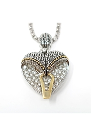 Nadya's Closet Pave-Crystals Heart Necklace - Side cropped