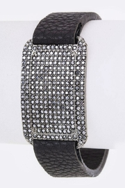 Nadya's Closet Pave Crystals Leather-Cuff - Product Mini Image