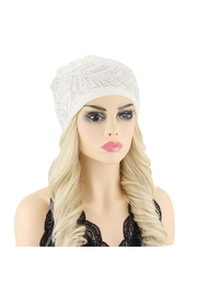 Nadya's Closet Peacock Feather Gem Beanie Hat - Front cropped