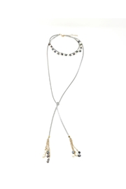 Nadya's Closet Pearl & Leather Choker Necklace - Product Mini Image