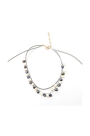 Nadya's Closet Pearl & Leather Choker Necklace - Side cropped
