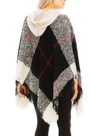 Nadya's Closet Plaid Pattern Thick Knitted With Hoodie Design Poncho - Other