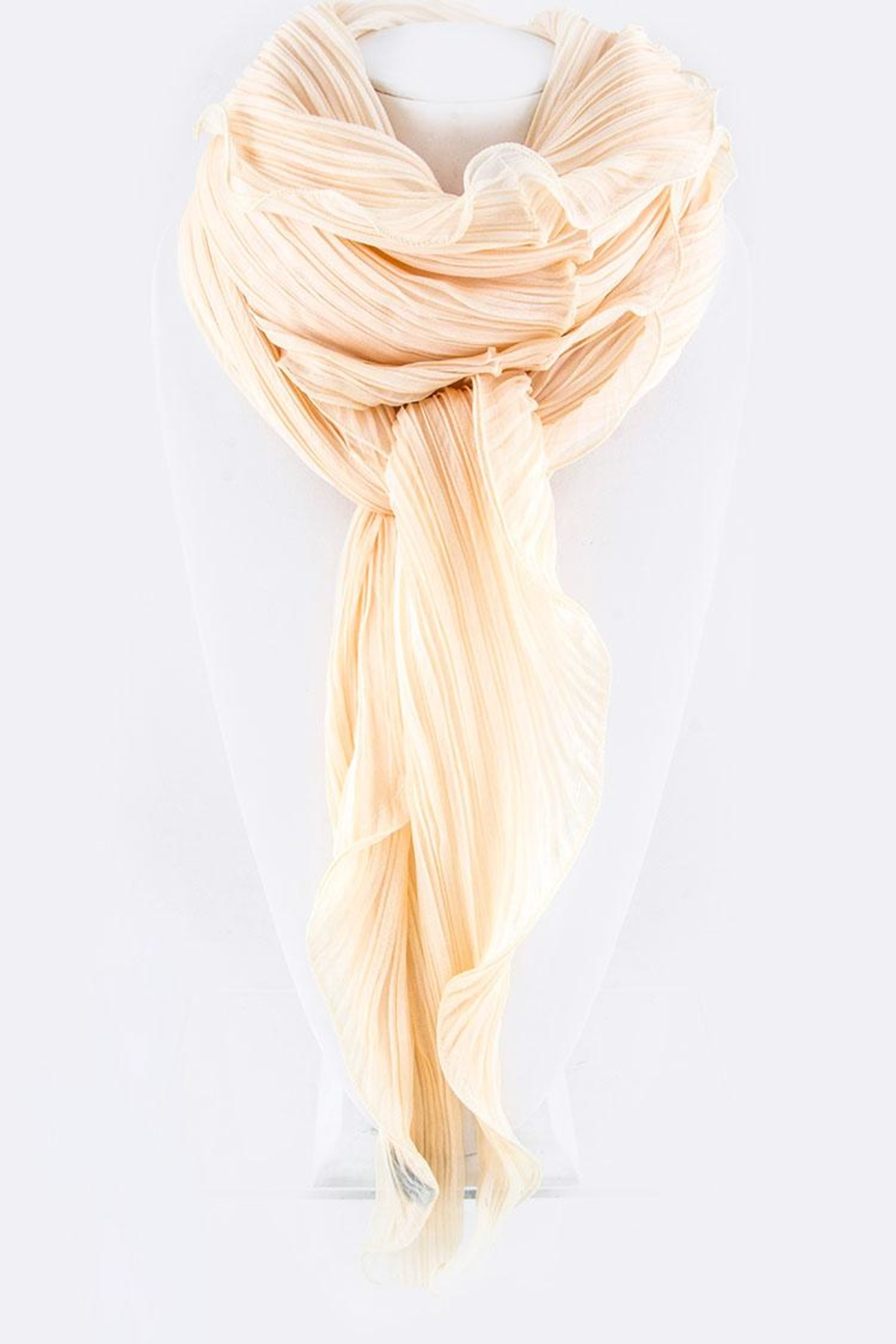 Nadya's Closet Pleated Convertible Shawl-Scarf - Front Cropped Image