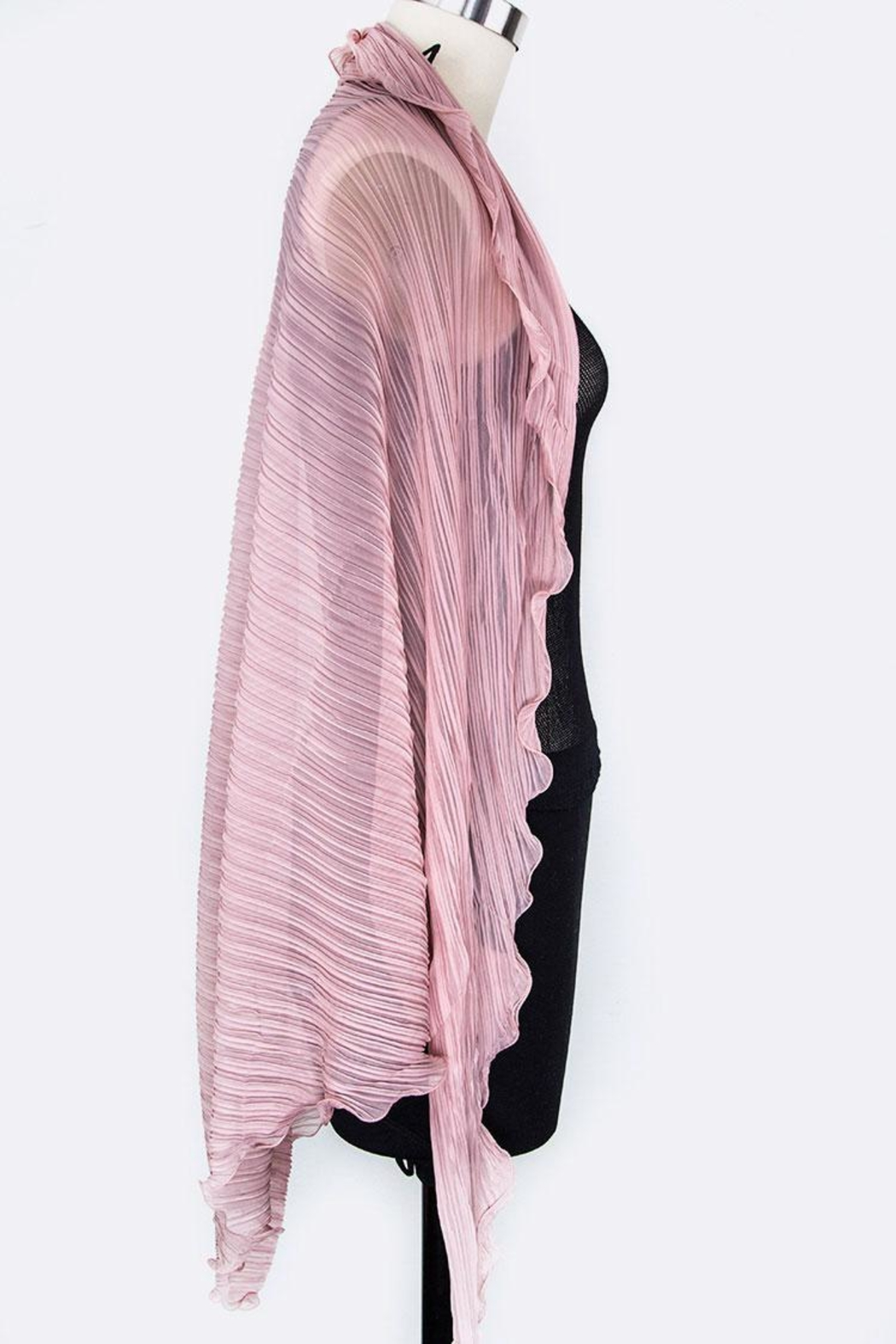 Nadya's Closet Pleated Convertible Shawl-Scarf - Front Full Image