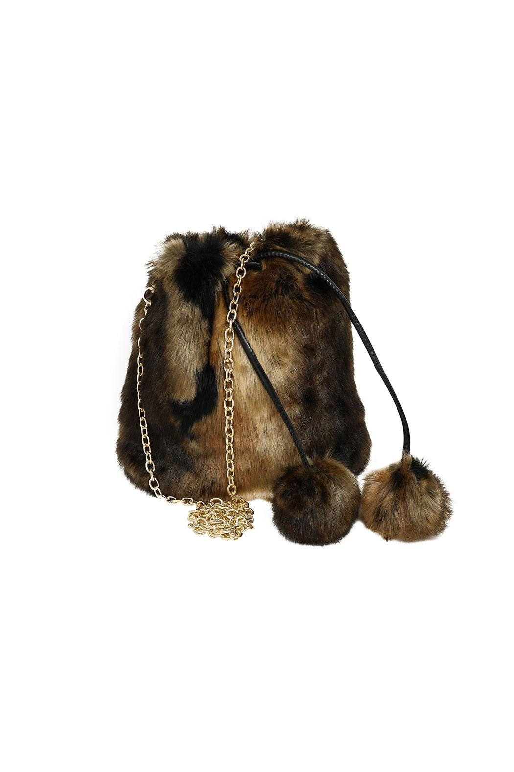 Nadya's Closet Pom Pom Crossbody Bag - Main Image