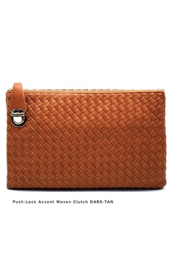 Shoptiques Product: Push Lock Accent Woven Clutch