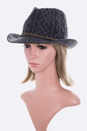 Nadya's Closet Raised Knit Fedora Hat - Product Mini Image