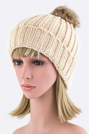 Nadya's Closet Removable Pom Pom Fashion Beanie - Product Mini Image