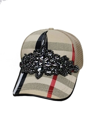 Nadya's Closet Rhinestone Applique Cap - Front cropped