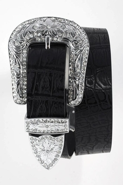 Nadya's Closet Rhinestone Buckle Belt - Product List Image