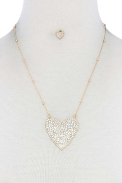 Nadya's Closet Rhinestone Heart Necklace - Alternate List Image